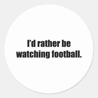 Estaría mirando bastante fútbol pegatina redonda