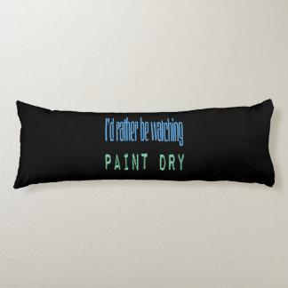 Estaría mirando bastante la pintura seca - negro almohada