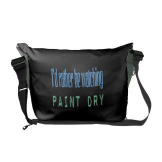 Estaría mirando bastante la pintura seca - negro bolsas de mensajeria