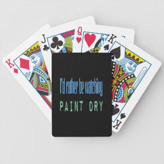 Estaría mirando bastante la pintura seca - negro baraja de cartas