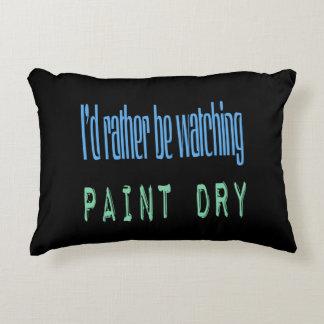 Estaría mirando bastante la pintura seca - negro cojín
