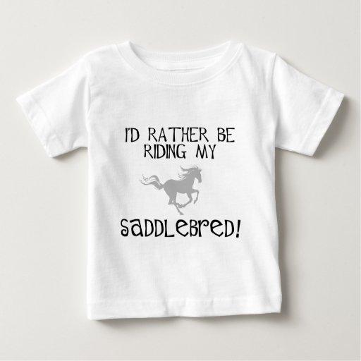 Estaría montando bastante mi Saddlebred Camisas