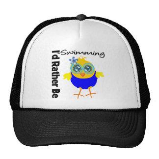 Estaría nadando bastante el polluelo gorra