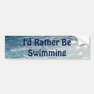 Estaría nadando bastante pegatina para auto