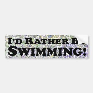 Estaría nadando bastante - pegatina para el parach pegatina para auto