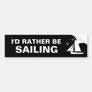 Estaría navegando bastante a la pegatina para el p etiqueta de parachoque