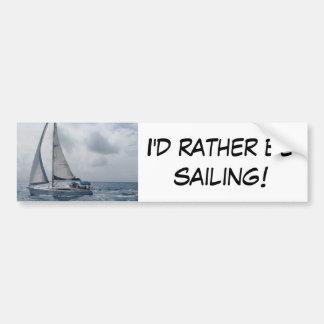 Estaría navegando bastante etiqueta de parachoque