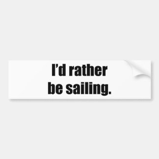 Estaría navegando bastante pegatina de parachoque