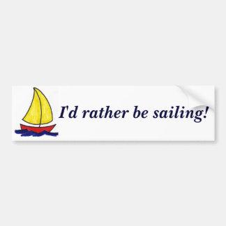 ¡Estaría navegando bastante! pegatina para el para Pegatina De Parachoque