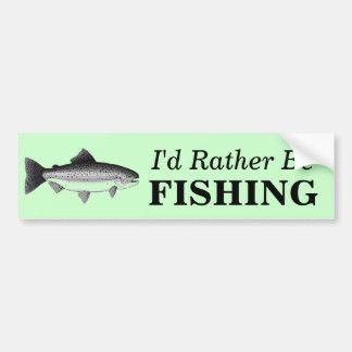 ESTARÍA PESCANDO BASTANTE al pescador de los pesca Pegatina Para Auto