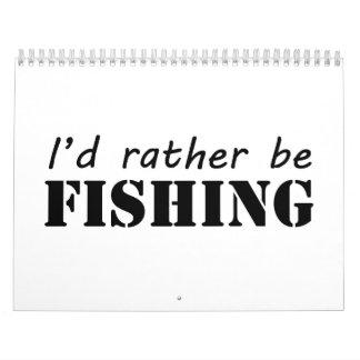 Estaría pescando bastante calendarios de pared