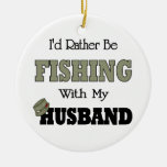 Estaría pescando bastante con mi marido ornato
