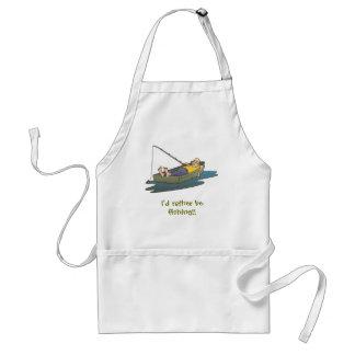 Estaría pescando bastante - día perezoso del barco delantales