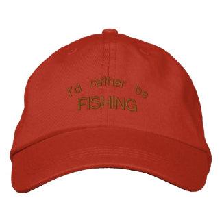 Estaría pescando bastante el casquillo bordado man gorras bordadas