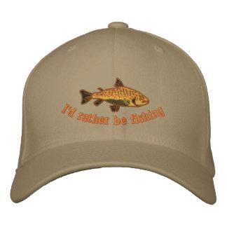 Estaría pescando bastante el casquillo gorra bordada