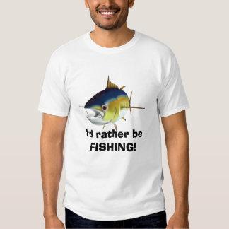 Estaría pescando bastante la camiseta para hombre playeras