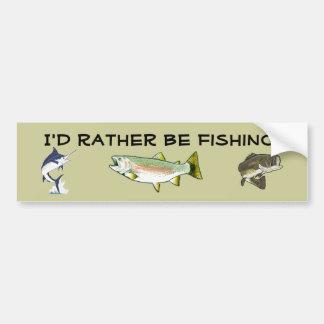 ¡Estaría pescando bastante! Pegatina Para Auto