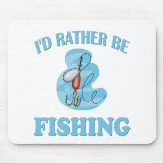Estaría pescando bastante mouse pad