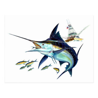 ¡Estaría pescando bastante! Tarjetas Postales