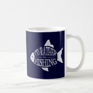Estaría pescando bastante taza básica blanca