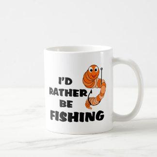 Estaría pescando bastante taza de café
