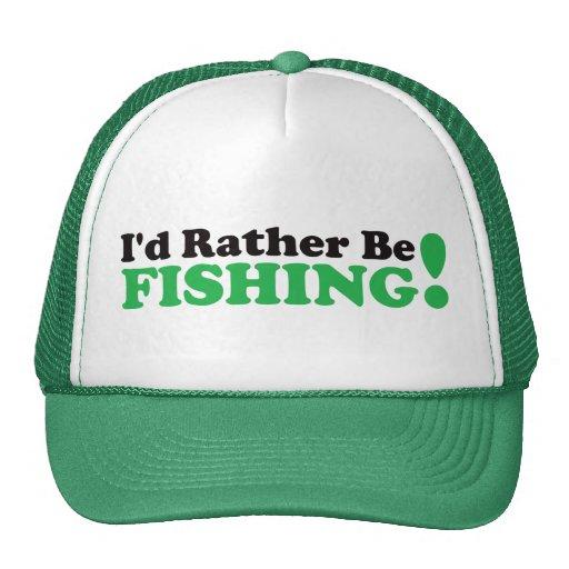 Estaría pescando bastante - verde gorro de camionero