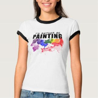 Estaría pintando bastante la camisa del artista -