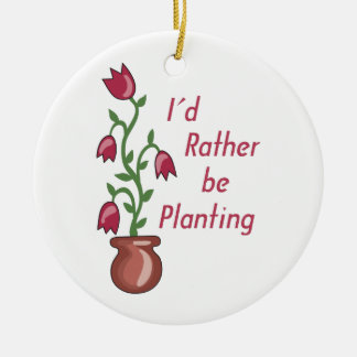 Estaría plantando bastante adorno navideño redondo de cerámica