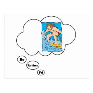 Estaría practicando surf bastante 3 postales