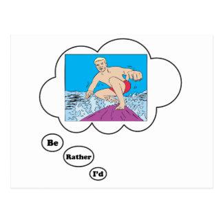 Estaría practicando surf bastante 4 postales