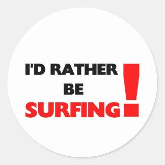 Estaría practicando surf bastante pegatinas redondas