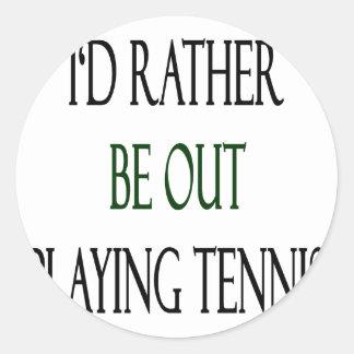Estaría realizando bastante tenis pegatina redonda