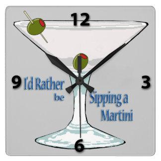 Estaría sorbiendo bastante un reloj de Martini Squ