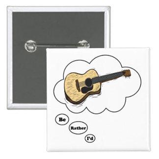 estaría tocando bastante la guitarra acústica pin cuadrado