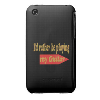 Estaría tocando bastante mi guitarra - fondo negro funda bareyly there para iPhone 3 de Case-Mate
