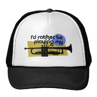 Estaría tocando bastante mi trompeta gorras
