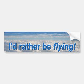 ¡Estaría volando bastante Etiqueta De Parachoque