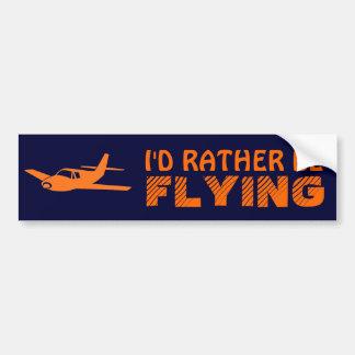 Estaría volando bastante el bumpersticker anaranja pegatina para auto