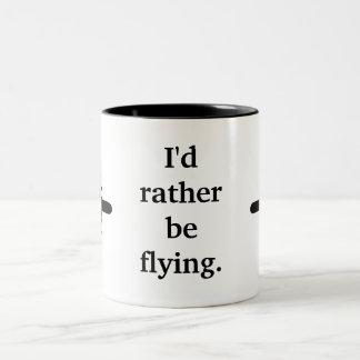 Estaría volando bastante taza de dos tonos