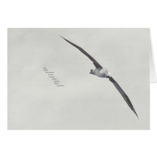 """""""estas alas """" tarjeta de felicitación"""