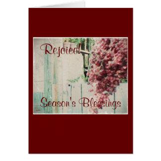 Estas bayas salvajes del invierno de diciembre de  tarjeta de felicitación
