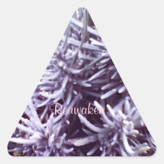 Estas estaciones febrero Lavendar de la Pegatina Triangular
