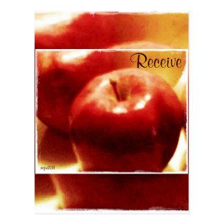 Estas manzanas de noviembre de las estaciones de l tarjeta postal