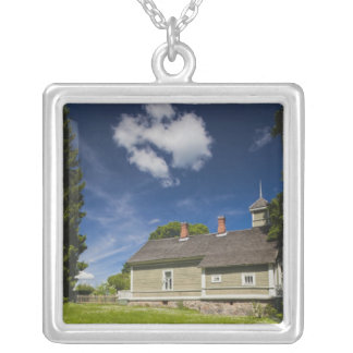 Estate building at Mikhailovskoye Silver Plated Necklace
