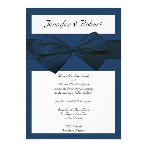 Estate Collection Marine Blue Wedding Invitation 5 X 7 Invitation Card
