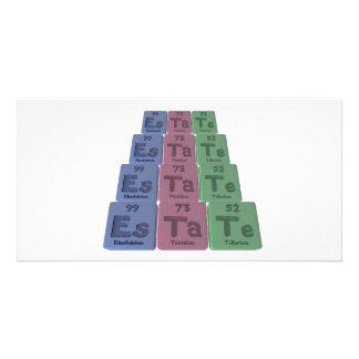 Estate-Es-Ta-Te-Einsteinium-Tantalum-Tellurium.png Photo Card
