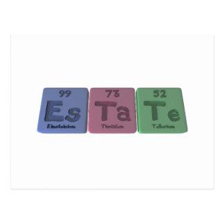 Estate-Es-Ta-Te-Einsteinium-Tantalum-Tellurium.png Postcard