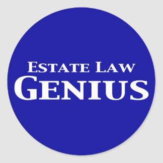 Estate Law Genius Gifts Classic Round Sticker