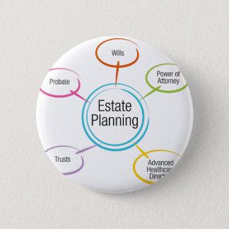 Estate Planning Chart Pinback Button
