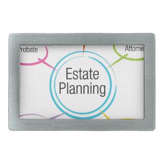 Estate Planning Chart Rectangular Belt Buckle